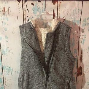 Jackets & Blazers - Gray Fleece lined vest